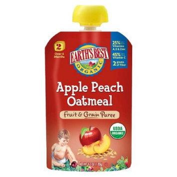 Earth's Best Fruit and Grain Puree - Apple Peach Oatmeal 4.2oz (12