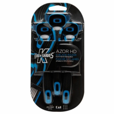 King of Shaves AZOR HD 5-Blade Flexi-Head Disposable Razor, 3 ea