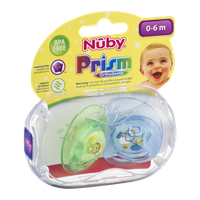 Nuby Prism Orthodontic Pacifier 0-6m - 2 CT