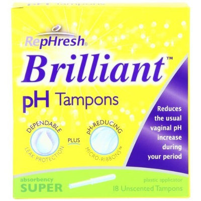 RepHresh Brilliant pH Tampons, Super Absorbency, 18-Count