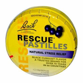 Bach Flower Remedies Rescue Pastilles Black Currant 1.7 oz Case of 12