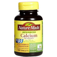 Nature Made Advanced Calcium 100 mg + Vitamin D Tabs, 100 ct