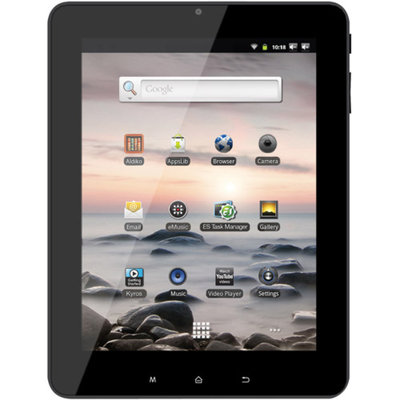 Coby 8 Inch Kyros Touchscreen Internet Tablet With Built-in Camera and Microphon