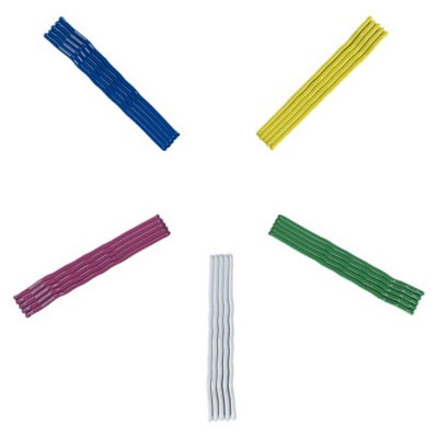 Remington Painted Bobby Pins / Cobalt Pink White Green Yellow