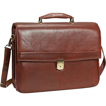 Dr. Koffer Fine Leather Accessories Mason Flapover Laptop Brief