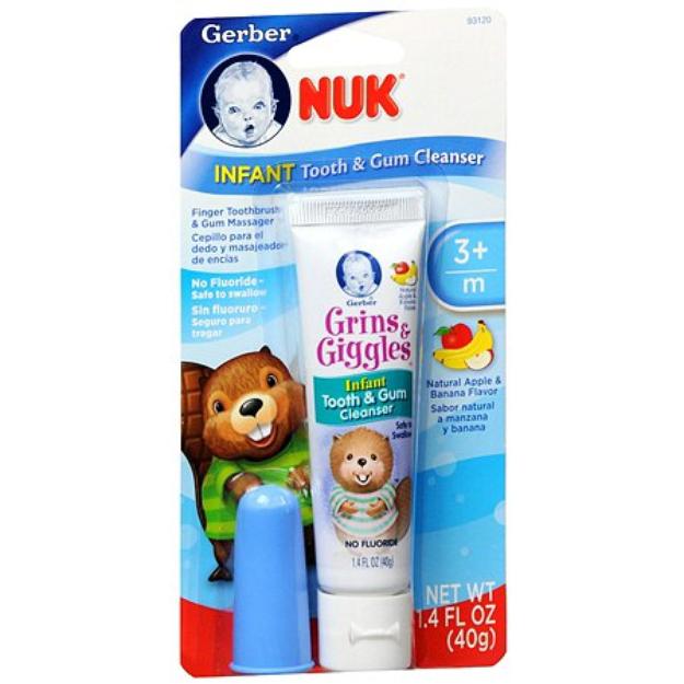 NUK Grins & Giggles  Infant Tooth & Gum Cleanser