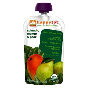 Happy Tot HappyTot Happy Baby Spinach, Mango & Pear 4.2 oz