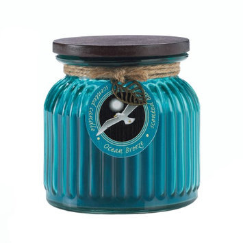 Koehlerhomedecor Ocean Breeze Ribbed Jar Candle