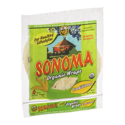 Sonoma Organic Wraps Traditional - 6 CT