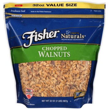 Generic Fisher Chef's Naturals Chopped Walnuts, 32 oz