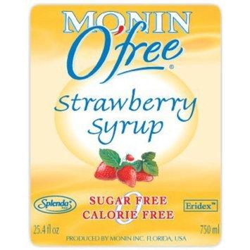 Monin Sugar Free Syrup, Strawberry, 750 ml (25.4 oz)