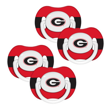Kohls Baby Fanatic Georgia Bulldogs 4 Pack Baby Pacifiers