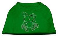 Ahi Bunny Rhinestone Dog Shirt Emerald Green XL (16)