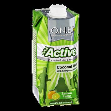 O.N.E. Active Lemon Lime Coconut Water