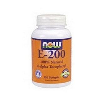 NOW Foods Vitamin E-200 (mixed Tocopherols), 250 Softgels / 200 Iu (Pack of 2)