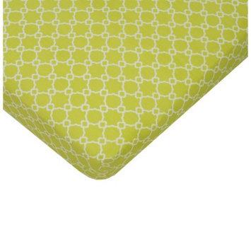 Sumersault Mix & Match Lime Crib Sheet