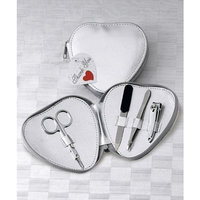 FavorWarehouse Manicure Set in Silver Heart Pouch, 1