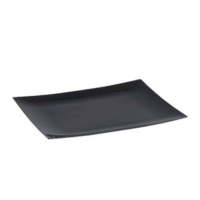 King Zak Ind Lillian Tablesettings 31070 Dinnerware 7.5 in. Black Rectangular Plate - 120 Per Case