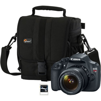 Canon 9126B003-3-KIT EOS Rebel T5 DSLR Digital Camera with Case (LP36106-0WW) an