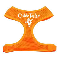 Mirage Pet Products 7008 SMOR Cookie Taster Screen Print Soft Mesh Harness Orange Small
