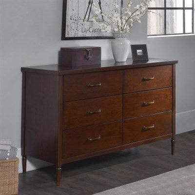 Dorel Asia Dorel Living Brook Lane Walnut 6-Drawer Dresser