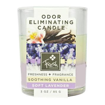 Fresh Fragrance Fresh Odor Eliminating Candle - Lavender & Vanilla, 3 oz