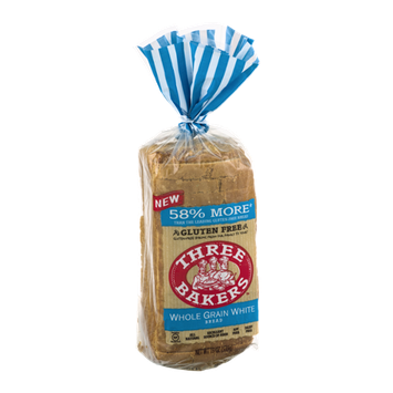 Three Bakers Gluten Free Bread Whole Grain White