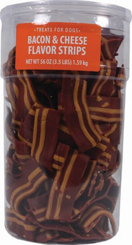 Triumph Wavy Bacon & Cheese Flavor Strips Dog Treats - Bacon & Cheese