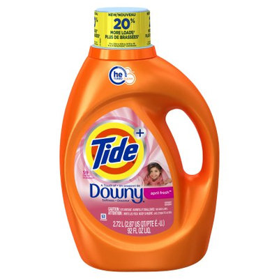 Tide Plus Downy April Fresh Scent HE Turbo Clean Liquid Laundry Detergent