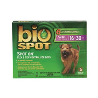 Central Life Sciences Bio Spot Spot On for Dogs 16-30 lbs., 6 Month Supply
