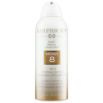 Hampton Sun SPF 8 Continuous Mist Sunscreen with Bronzer 5 oz