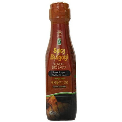 Jayone J1 Korean BBQ Sauce, Mild Spicy Bulgogi, 12-Ounce Jars (Pack of 6)