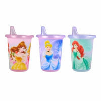 The First Years Disney Princess Take & Toss Multi-Character Spill Proof Sippy Cup, 3 ea