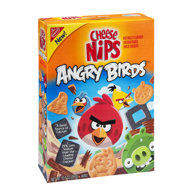 Cheese Nips Angry Birds Cheddar Baked Snack Crackers