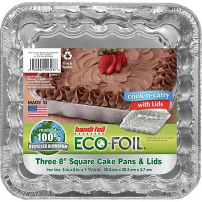 Handi-foil ECO-Foil Cook-n-Carry Square Cake Pan with Lid