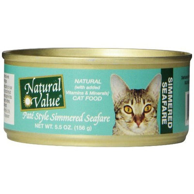 Natural Value Pate Style Simmered Seafare Cat Food, 5.5 Ounce Cans (Pack of 24)