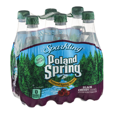 Poland Spring Sparkling Spring Water Black Cherry