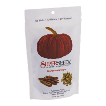 SuperSeedz Gourmet Pumpkin Seeds Cinnamon & Sugar