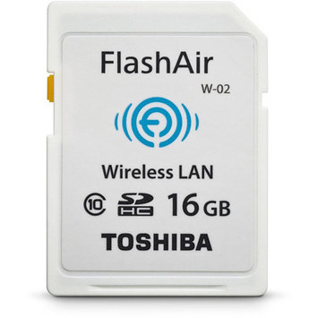 Toshiba FlashAir II - Wireless memory card - 16 GB - Class 10 - SDHC - Wi-Fi - for Satellite C55, P55T; Satellite Radius