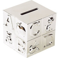 Elegant Baby Silver Plated Abc Block Bank (Discontinued by Manufacturer)