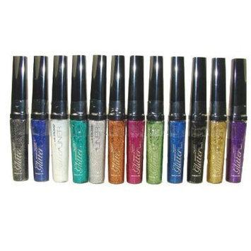 L.A. Colors 12 LA Colors Shimmer Sparking Glitter Eye Liner Set