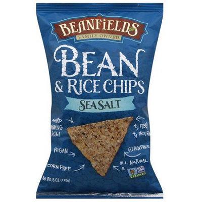 Beanfields Sea Salt Bean & Rice Chips, 6 oz, (Pack of 12)