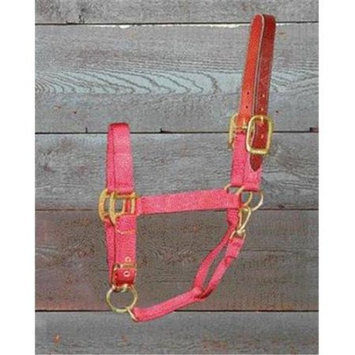 Hamilton Halter Company - Adjustable Halter With Leather Headpole- Red Small - 1