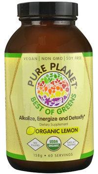 Pure Planet - Best of Greens Organic Lemon - 158 Grams