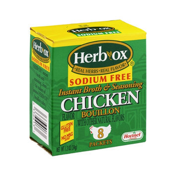 Herb-OX Sodium Free Instant Broth & Seasoning Chicken Bouillon Packets - 8 CT