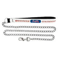 GameWear Atlanta Braves Baseball Leather 2.5mm Chain Leash - M