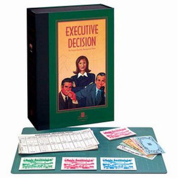 University Games Bookshelf Games Executive Dicision Game Ages 12+, 1 ea