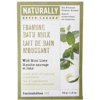 Upper Canada Soap Naturally Foaming Bath Milk-Wild Mint Lime-1.8, oz.