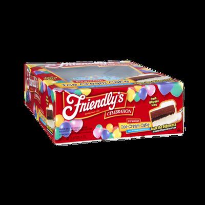 Friendly's Celebration Premium Vanilla and Chocolate Ice Cream Cake
