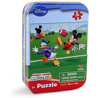 Cardinal Disney Mickey Mouse Club House 24 Piece Jigsaw Puzzle In Collectible Tin - Designs Vary